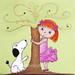 Hide&Sick - redheaded girl - Art Print by HoneyBooArt