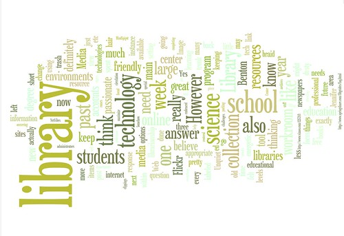 Library Word Cloud via Wordle