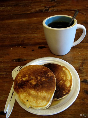 pancake and coffee