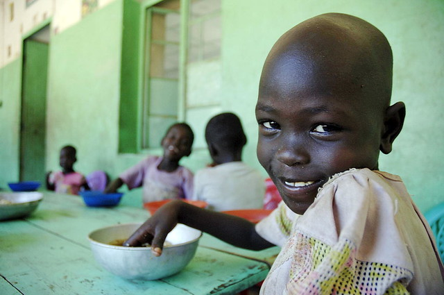 Children Have Lunch at South Sudanese Orphanage