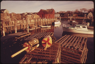 Rockport Harbor Lobster Pots and Buoys 02/1973