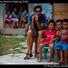 Ivana  and kids, Northern Highway, Belize