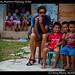 Ivana  and kids, Northern Highway, Belize