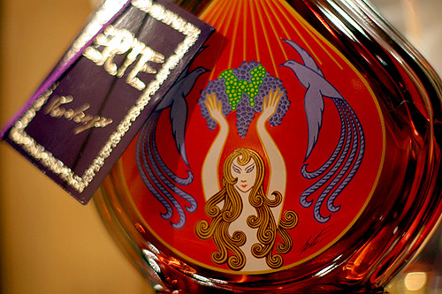 Erté cognac bottle