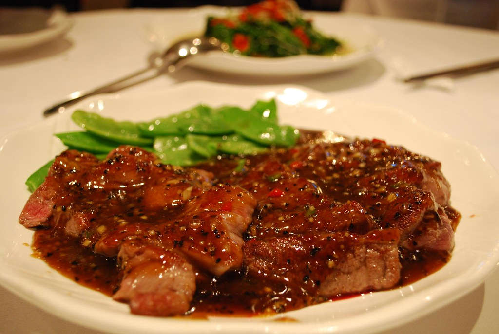 黑椒牛柳 Beef Eye Fillet with Black Pepper Sauce - Tea Garden AUD25.50
