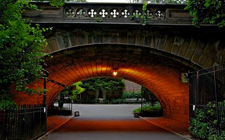 The back entry to the Central Park Zoo