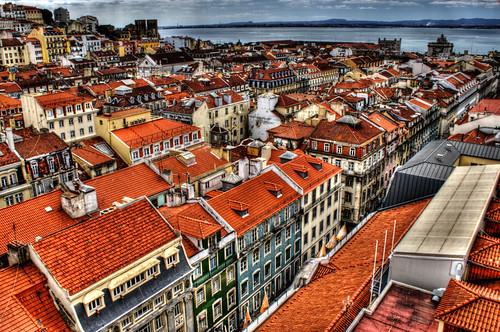 Vista desde el mirador de Santa Justa, Lisboa. View from Santa Justa viewpoint. Lisbon.