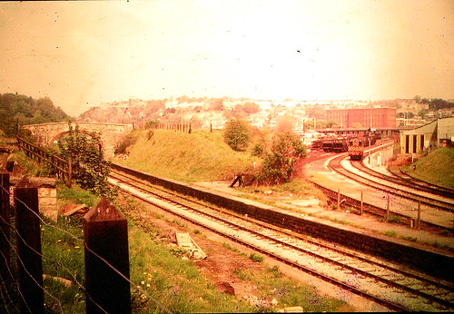 Ashton Gate station - railway bridges old and new, 1970s