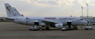 Un Airbus 320 de Tunisair (TS-IMD)