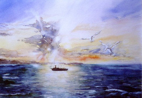 Art: Watercolour:...on honeymoon-trip, ... (that would be wonderful).