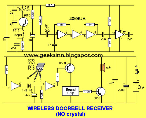 Flickriver most interesting photos tagged with circuitdiagram circuit for wireless doorbell receiver circuitwithout crystal cheapraybanclubmaster Image collections