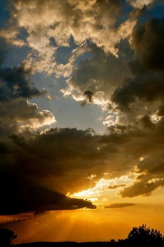 sunset sky sun sol atardecer nikon badajoz cielo concha banos ocaso nube anochecer baños extremadura naturesfinest d90 rabodenube