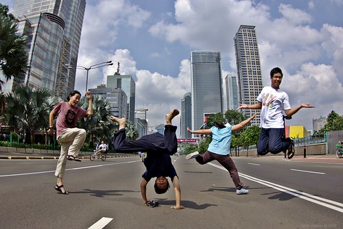 Hari Bebas Kendaraan Bermotor//Jakarta car-free day
