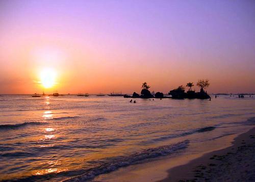 beautiful bora sunset