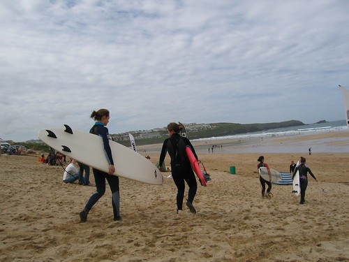 Surfing Fistral Beach Newquay Cornwall