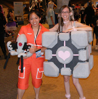 Chell and Companion Cube