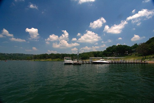 sky lake water clouds missouri boating ozarks tablerock