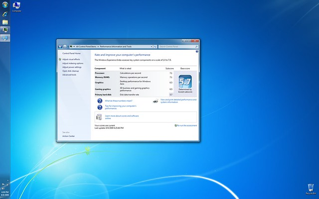 Windows 7 Release Rtm Performance Rating Flickr