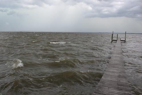 storm landscape bay dock