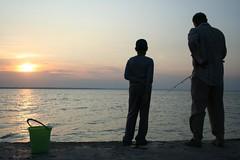 Pescadores em Zatoka, Ucrânia