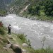 Tithwal- Indian security on the left bank of the Kishenganga waching divided people maintain contact by bhatto
