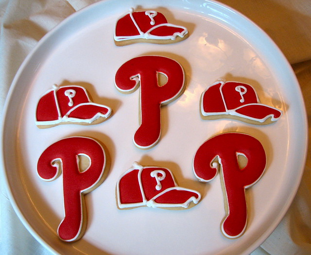 Philadelphia Phillies Baseball Cookies
