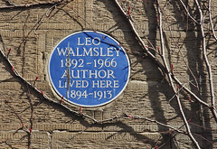 Photo of Leo Walmsley blue plaque