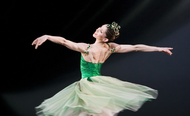 Leanne Benjamin in Emeralds as part of Jewels © Johan Persson/ROH 2007