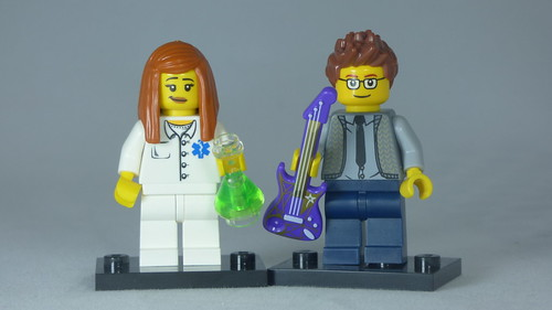 Brick Yourself Custom Lego Figure Hipster Musician & Scientist | by BrickManDan