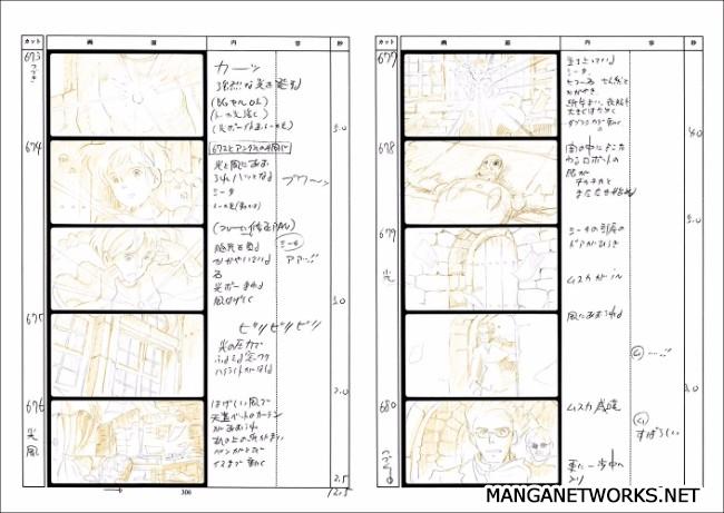 32965886392 876be67179 o 16 Storyboards của Studio Ghibli sẽ khiến bạn muốn xem lại Movie ngay lập tức !!