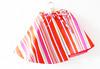 Wrap Skirt Girl Bold Stripes Fuchsia Scarlet by LottaLorier