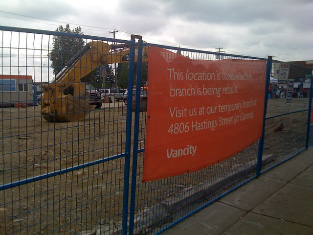 This location is closed while the branch is being rebuilt