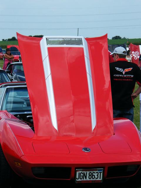 Red C3 Hood stripes. Classic Corvette Club UK Show 2009 | Flickr