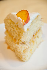 Peach and Cream Cake