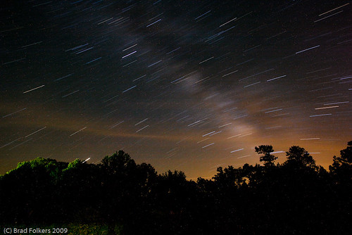 trees sky night stars landscape scenery startrails 20minutes 1201seconds