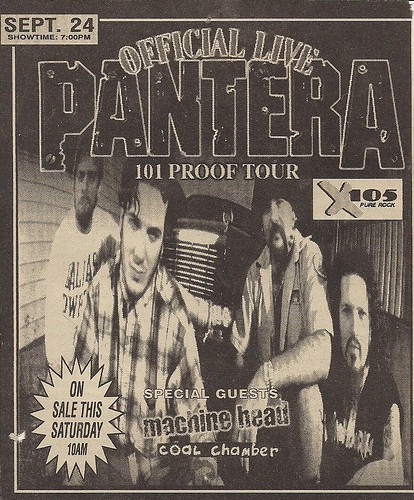 09/24/97 Pantera/Machine Head/Coal Chamber @ St. Paul, MN (Ad)