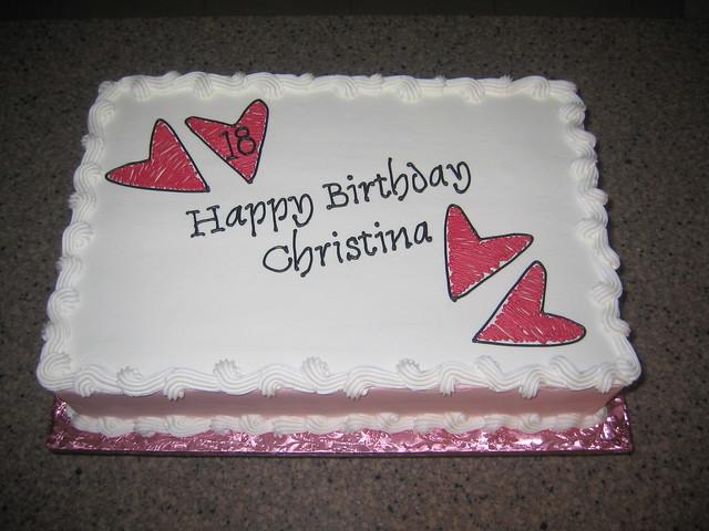 Christinas birthday cake  Flickr - Photo Sharing!