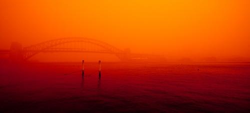 Sydney Harbour Dust Storm