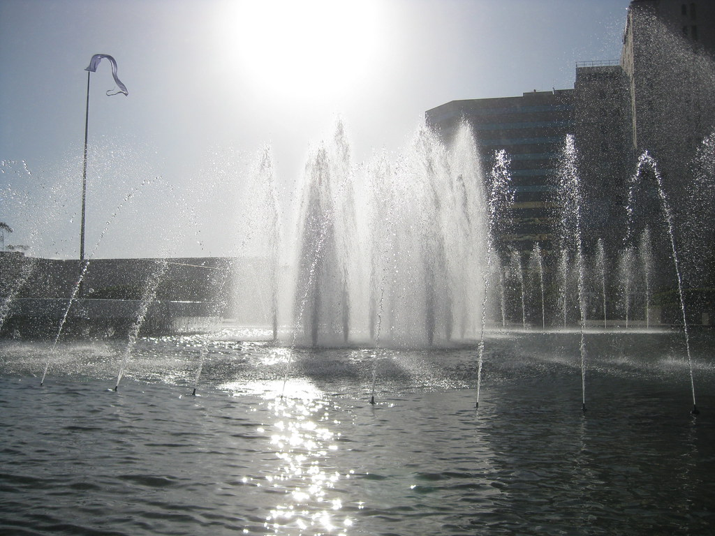Sunlit Fountain