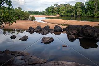 LANDSCAPE RIVER RAINFOREST UPPER SURINAM AMAZONE SOUTH-AMERICA