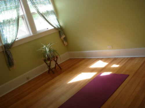 Beauty that moves our new yoga room for Small yoga room ideas