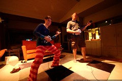 guitar hero   guess who's playing bass, and who's pl…