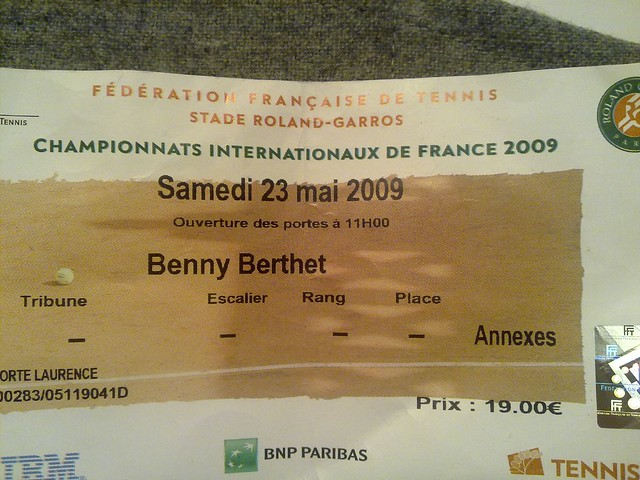 Roland Garros Ticket