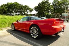 muscle car(0.0), automobile(1.0), automotive exterior(1.0), wheel(1.0), vehicle(1.0), performance car(1.0), automotive design(1.0), honda nsx(1.0), land vehicle(1.0), luxury vehicle(1.0), coupã©(1.0), supercar(1.0), sports car(1.0),