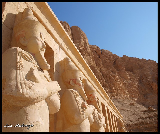 #Fotos de egipto #Egypt photos #Egipto #Egypt #Cairo #Luis Casado Bermejo #Luis Montenegro :The Guardians of the Temple of Hatshepsut