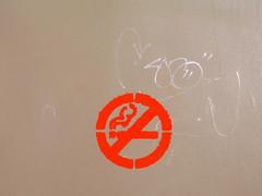 No Smoking Stencil