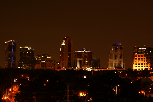 Downtown Orlando Skyline At Night Flickr Photo Sharing