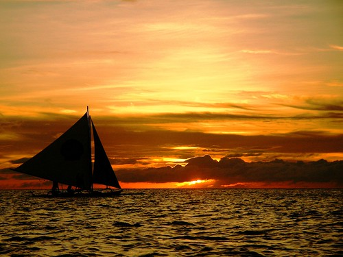 sails and sunset