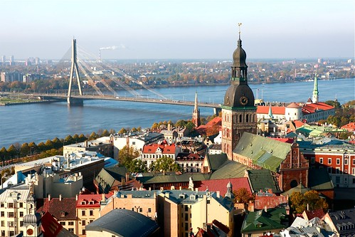skyline of  old town/Riga