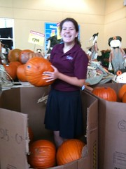 Leah's looking for the Great Pumpkin!